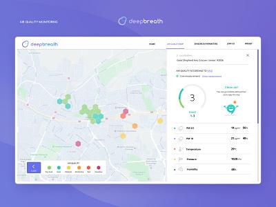 deepbreath app design webdesign map dashboad design ux ui