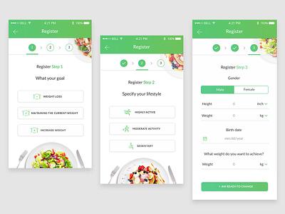 Registration In 3 Steps ux ui app