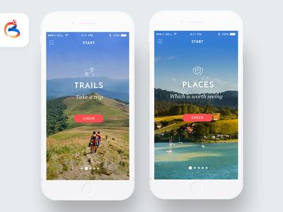 Main Menu - Tourist App - Bieszczady Borderland