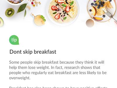Tips And Advice bodyfoodweight body app design list food diet design ui ux app