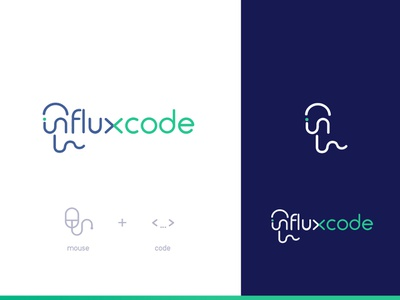Logo Influxcode  Concept2 design mark illustration typography vector identity branding logo