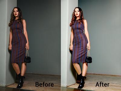 colour correction in photo