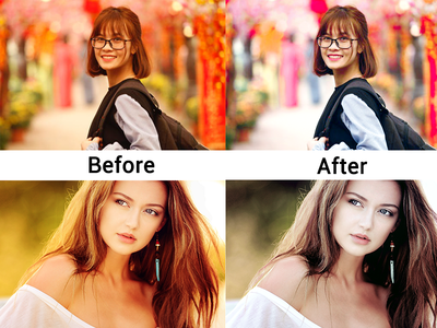 colour correction and before and after