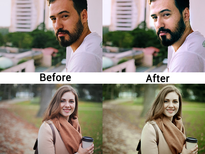 Before And After and color correction