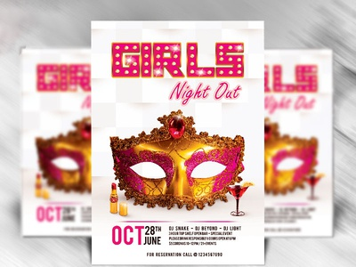 Girls Night Out Flyer Psd Template Dribble