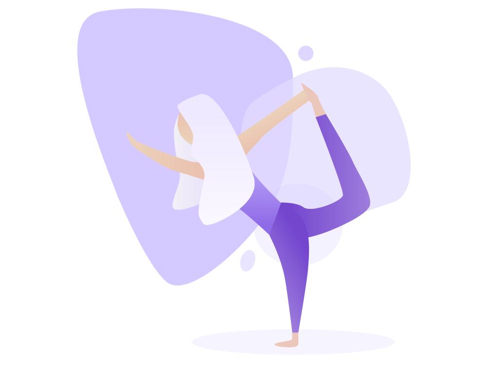Yoga Illustration branding adobe illustrator flat vector design illustration