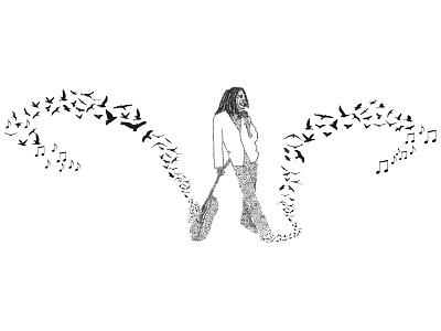 Bob Marley bob marley music freedom illustration