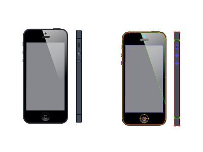 Iphone 5 illustration iphone 5 illustrator drawing illustration vector