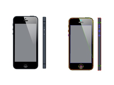 Iphone 5 illustration