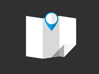 Map icon based location icon map