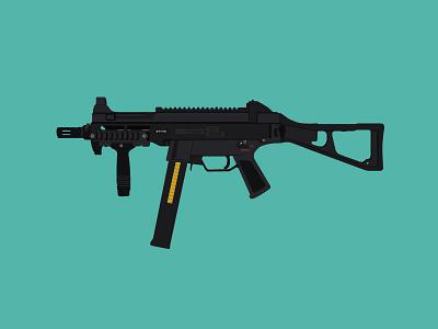UMP 45 mag magazine bullet firearm shooting shot green gun 45 ump