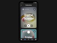 Blackdove video art app - new design/animations