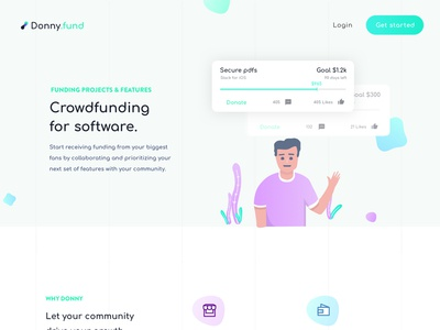 donny.fund - Crowdfunding for software