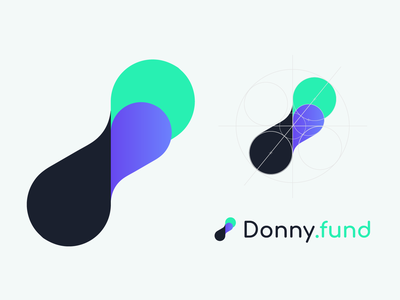 Donny.fund logo design - Crowdfunding for software web landing startup project feature element software crowdfunding funding donny.fund donny brand branding concept visual identity branding design branding visual ui design logo