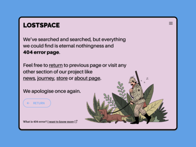 Lostspace 404 Page