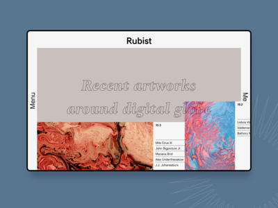 Rubist First Page with updates