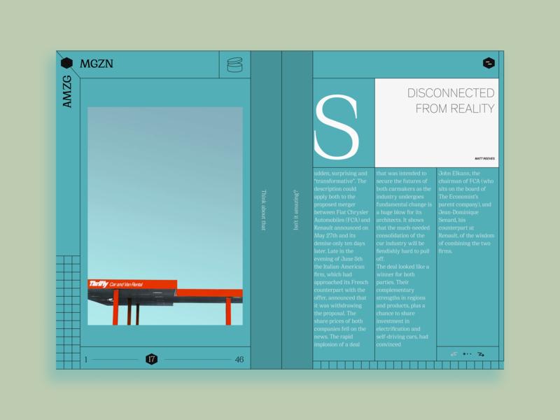 Amzg◆Mgzn Concept brutalist brutalism ui photo minimalist design layout daily ui minimalism webdesign dailyui website web