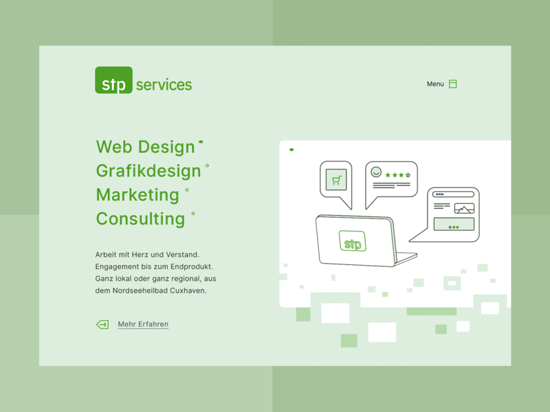Local design agency - Landing Page minimal ux icon simple page landing ui concept web website consulting agency design local