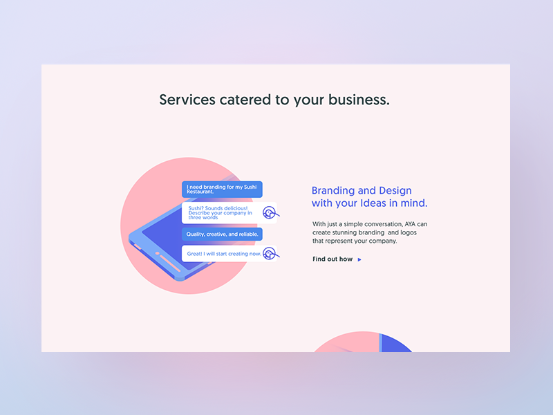 AI Service - Landingpage #2 grid layout website illustration landing page services