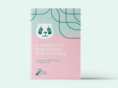 Piccoluna Book Concept publisher cat questions forest pink panda branding book concept