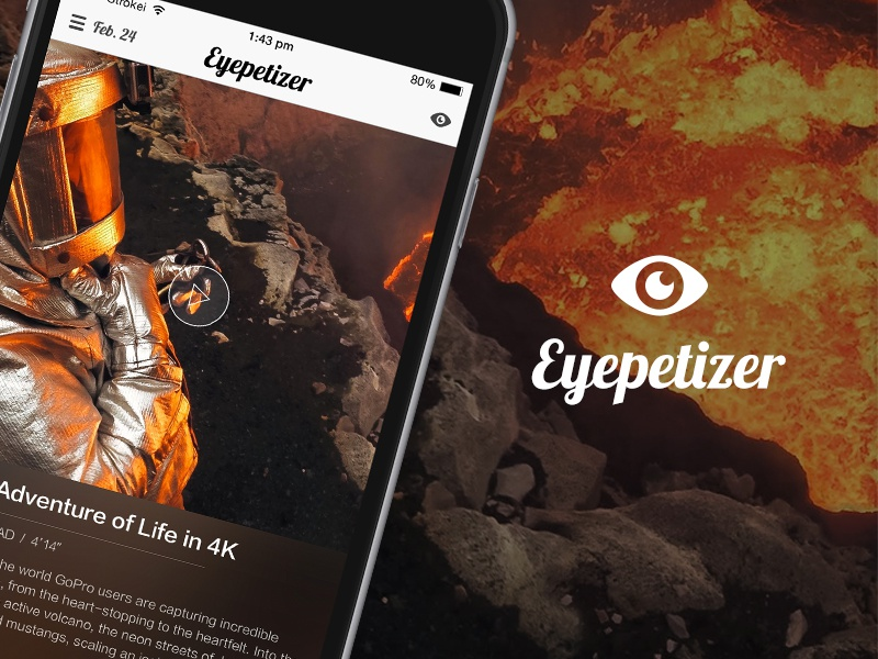 Eyepetizer ux short video app ui design ui video