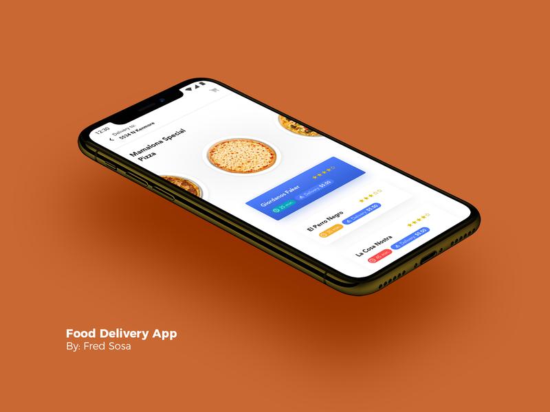 Food Delivery App iphone ubereats grubhub doordash fredsosa ui ux ordering mobile app food pizza