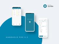 Handheld POS V.2 adobe xd mobile paxa920 pos restaurants spoton ui ux xd handheld fredsosa pax device design app android adobe