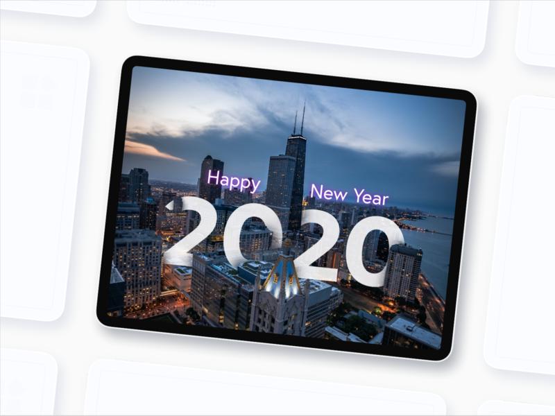 Happy 2020 ui ux fredy sosa ipadpro chicago newyear xd 2020