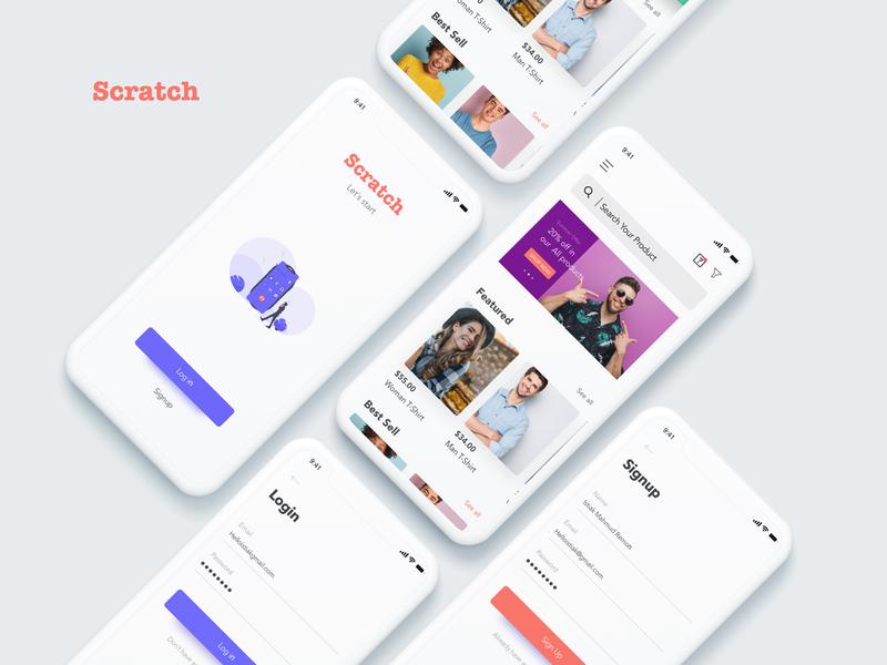 E-commerce simple xd adobexd design forms ui concept shop ecommerce app