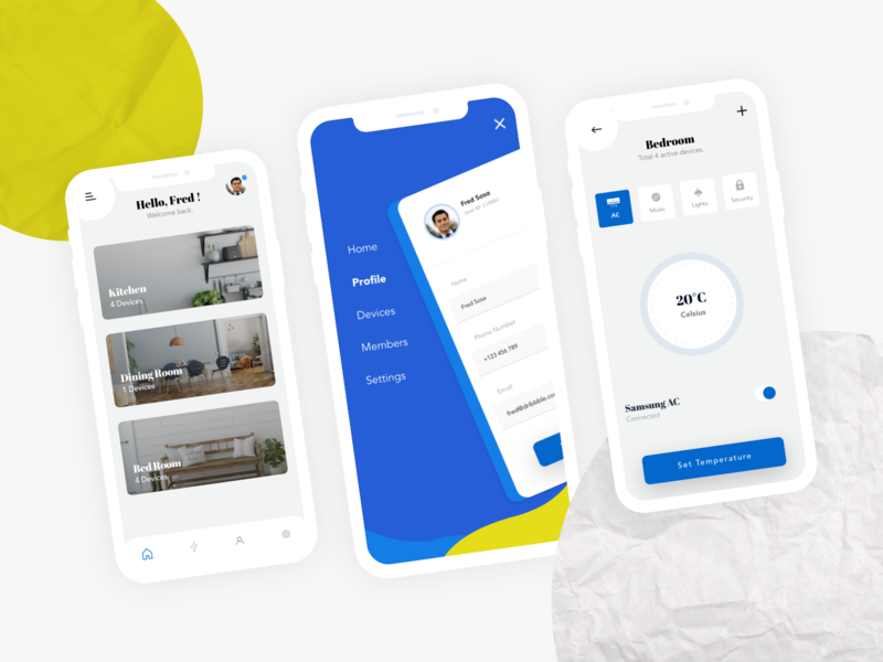 Home Controller fredy sosa daily ui cold heat house app mobile ux ui controller control furniture home
