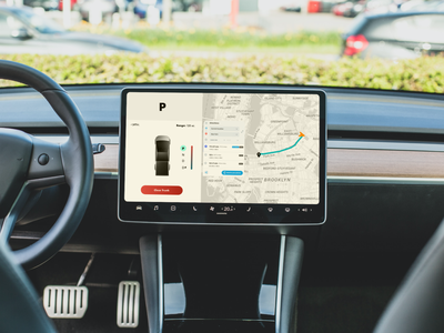 Electric Car Display vehicle electricvehicle california cybertruck fredsosa auto maps navigation ui display motor electric car tesla