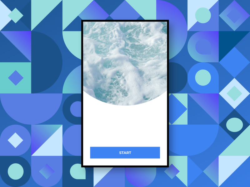 Abstract II mobile app cool cold water shapes mexico adobe xd abstract design fredsosa ui abstraction abstract art abstract
