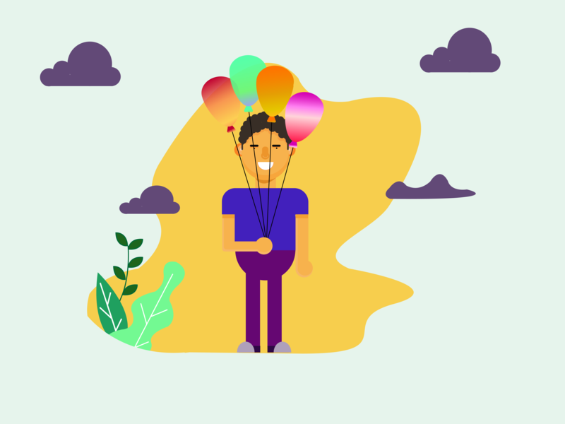 Happy Soul flat illustrator ui art direction illustration flatdesign