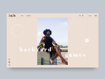 Landing Page : Salt & Silk