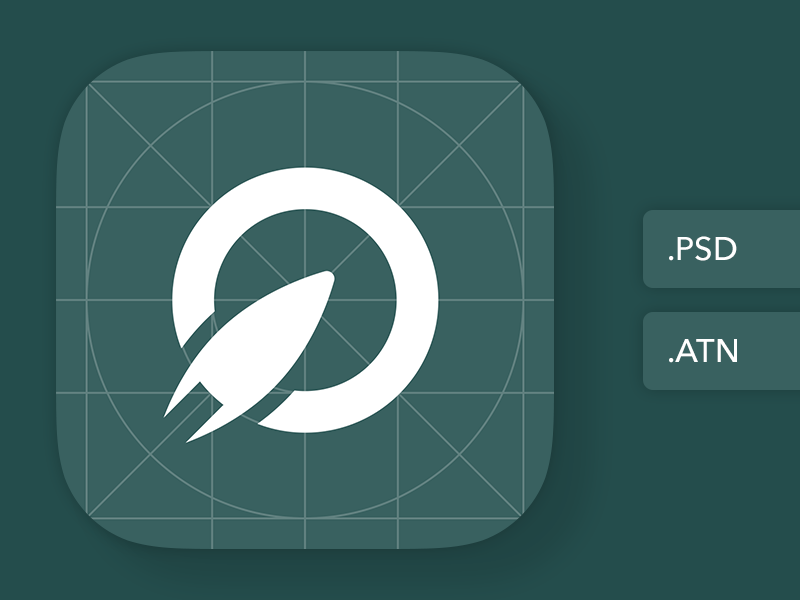 The last iOS App Icon template you'll ever need action photoshop atn psd template icon app ios