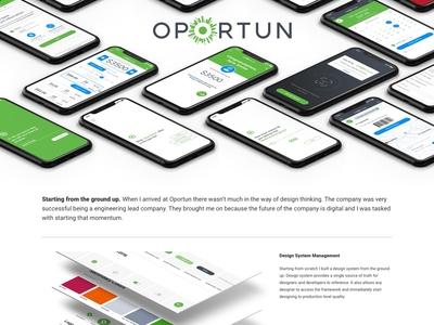 Portfolio Subpage fintech ui portfolio
