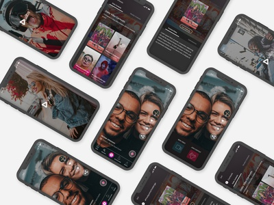 Viibs - A Short Video Sharing Platform ios app ios 7 android app millennials triller tiktok social uid uxui ui ux design dailui