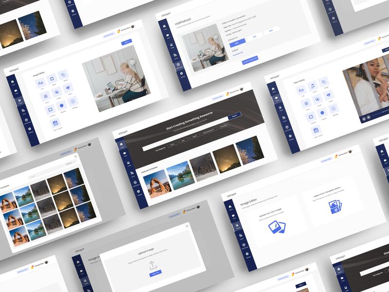 Vidzappr - A Video And Image Editing Platform graphics designer editing app graphics design audio video graphics editing illustration uid web uxui ux ui design dailui