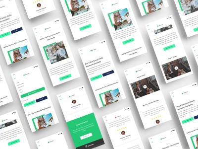 AllSocials - A Social Media Exchange Platform (Mobile) v2 ios android social landing page ui landing page uid web uxui ux ui design dailui