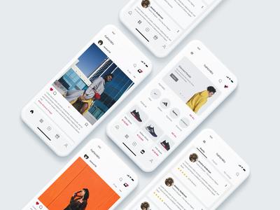 Fashionista - A Fashion Community App ecommerce app social media social media design social network social community style ios flat fashion app android uxui ux ui design dailui