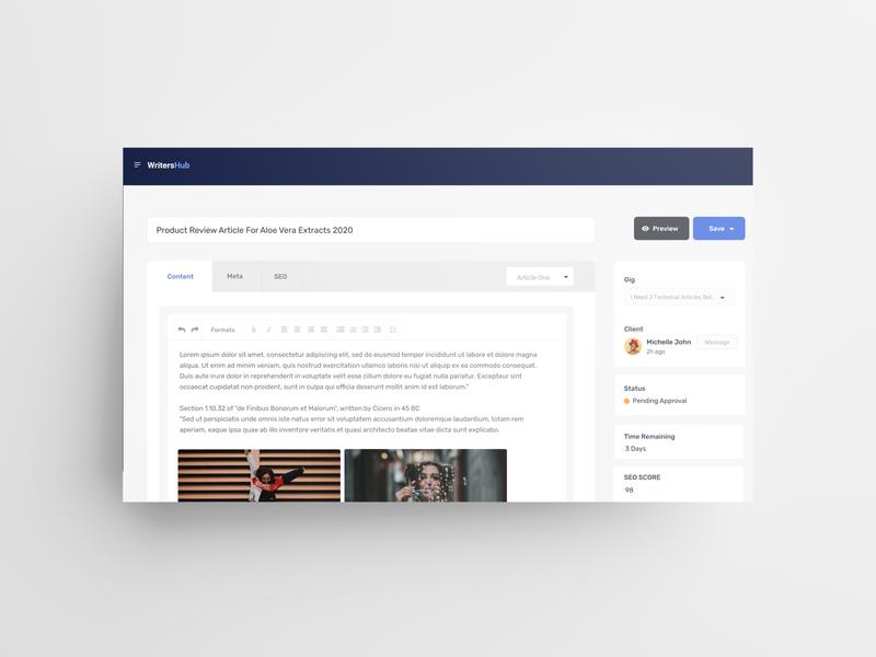Content Management System For WritersHub freelancer freelance uid web uxui ux ui design dailui
