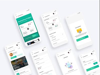 Mobile International Transfer Design send money finance app fintech financial finance app landing page ui landing page uid web uxui ux ui design dailui