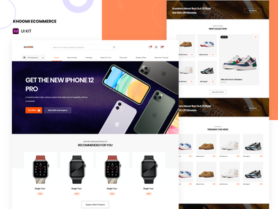 Khoomi Ecommerce UI Kit store uikits uikit ecommerce design ecommerce illustration uid web uxui ux ui design dailui