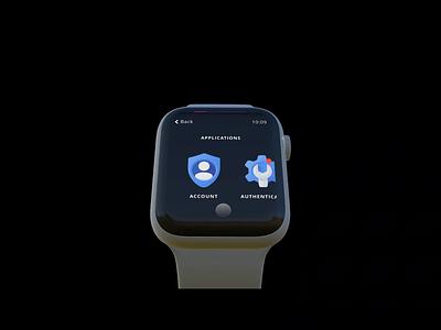 Google Authenticator Smartwatch UI Concept smartwatch watch apple watch android wear android uxui ux ui design dailui