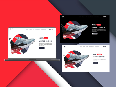 Nike Airmax Landing Page Concept