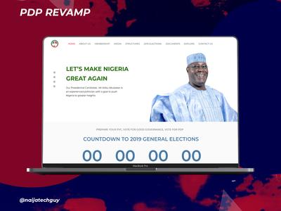 Landing Page UI For Political Website