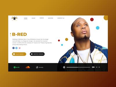Music Record Label Landing Page