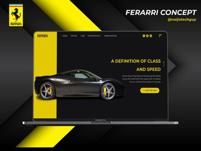 Car Landing Page Concept (Ferarri)