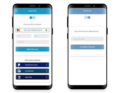 Simple Card Payment Screen