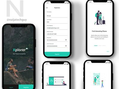 Concept Design - Travel App For iOS